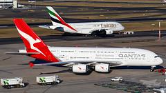 VH-OQF QF A6-EEM A380 YSSY-4772 (A u s s i e P o m m) Tags: qantas qf emirates ek airbus a380 syd yssy sydneyairport