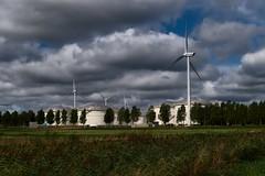 Windmolens en opslag langs Ruigoordroute