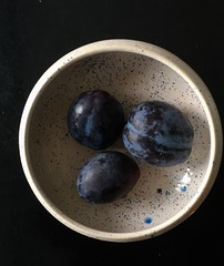 Summer Plums (gks18) Tags: fruit blue plums iphone blackbackground stilllife