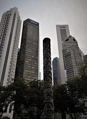 a vertical city (SM Tham) Tags: asia southeastasia singapore cityscape buildings skyscrapers banks cbd totempole trees asiancivilisationsmuseum