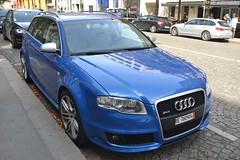 Audi RS4 Avant B7 (Monde-Auto Passion Photos) Tags: voiture vehicule auto automobile audi rs4 avant break b7 bleu blue sportive rare rareté familiale georgev france paris