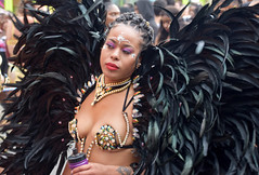 DSC_7581a Notting Hill Caribbean Carnival London Exotic Colourful Costume Black Birds of Paradise Feather Headdress Girls Dancing Showgirl Performers Aug 27 2018 Stunning Ladies (photographer695) Tags: notting hill caribbean carnival london exotic colourful costume girls dancing showgirl performers aug 27 2018 stunning ladies black birds paradise feather headdress