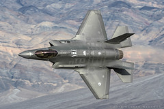 RNAF F35A (dmeg180) Tags: f35 f35a rnaf plane jet aircraft airplane lowlevel desert deathvalley stealth 323tes lightning military nikon d500 airforce edwards lockheedmartin
