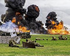 Lytham battle 1 (Nigel Valentine) Tags: lytham battle explosion fire 1940 orange black