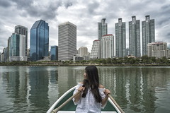bangkok (Roberto.Trombetta) Tags: asia thailand bangkok boat benjasiri park benchasiri rowing benchakiti long hair black reflection mahanakorn swimming pool roof top lake water garden hat girl loneliness lone cloudy storm building landscape view sonyalpha sony7rii sony7rmii batis225 carlzeiss zeiss carl sony alpha 7rii lenses tree looking waiting melancholy people lifestyle fashion allaperto batis 25 lumphini woman relax holiday fiume persone portrait urban beautiful stunning krung thep benjakitti