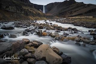The majestic Hengifoss waterfall