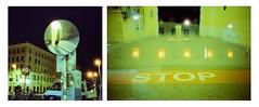 space STOP at Vienna (Diaffi) Tags: vienna museumsquartier night doubleexposure selfie reflection darkness analog selfdeveloped homedeveloped c41 colorfilm cinestillfilm800tungsten olympusxa mirror diptych street urban ishootfilm