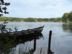 Storholmen (davidmcnuh) Tags: sweden lake boat water viking museum openair openairmuseum erken village vikingvillage