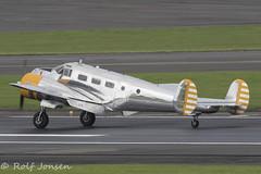 N184KP Beech CT-128 Expeditor Private Prestwick airport EGPK 30.08-18 (rjonsen) Tags: swiss flying legends plane airplane aircraft landing airside runway