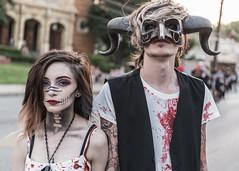 Louisville Zombie Walk (sniggie) Tags: bardstownroad dayofthedead kentucky louisville louisvillezombiewalk zombiewalk goatmask portrait streetphotography zombie louisvillephotographymeetup diademuertos cosplay
