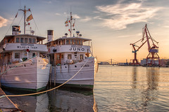 Ships (anderswetterstam) Tags: city evening harbor light sea boat ship pier quay moored sunset sunlight sunshine summertime summer