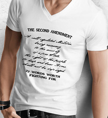The Second Amendment. 27 Words Worth Fighting For. Second Amendment. Black Print. Anvil Men's Printed V-Neck T-Shirt. White.  | Loyal Nine Apparel (LoyalNineApparel) Tags: 1776 2ndamendment 3 army comeandtakeit concealedcarry country countrylife firearm freedom gun gunlove guns igmilitia instagood liberallogic livefreeordie loyalnineapparel loyalnineclothes maga marines mensfashion nra patriots progun shallnotbeinfringed style threepercenter veteran