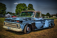 CHEVROLET PICK UP TRUCK (Peter's HDR hobby pictures) Tags: petershdrstudio hdr classiccar car chevrolet pickup pickuptruck truck lkw gras sky himmel trees bäume
