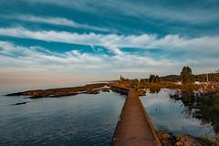 Grand Marais Light - Lake Superior Harbor (Tony Webster) Tags: grandmarais grandmaraislight lakesuperior minnesota northshore breakwater harbor lighthouse wall