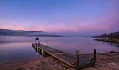 Predawn fog on Lake Choctaw (gary_photog) Tags: fog sunrise lake pastelcolors dock arkansas nikond810 nikon20mm