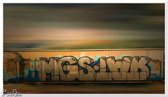 In voller Fahrt / At full speed (Reto Previtali) Tags: train zug farben flickr nikon graffiti digital linien himmel wolken schweiz dach