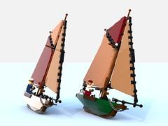 small sailboat5.lxf (Brick picker) Tags: boat captain daniel barge houseboat wood voilier bateau bois ship lego black deck ocean river dom modular moc afol ideas peniche fishing vintage figurinescale figure creator legocreation