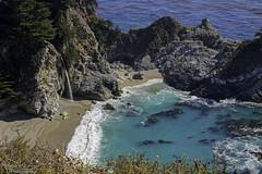 Julia Pfeiffer Burns State park McWay falls (Patrick Dirlam) Tags: trips juliapfeifferburnsstatepark waterfall pacific ocean beach bigsur california