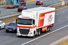 FP65 MWA (Martin's Online Photography) Tags: daf xf truck wagon lorry vehicle freight haulage commercial transport a1m northyorkshire nikon nikond7200