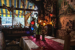 Ambience (Parchman Kid (Jerry)) Tags: zumanker assmannshausen germany restaurant colored lights fine dinner wine ship wooden ships parchmankid sony a6500 décor ambience