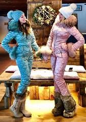 naumi teal and pink suits (skisuitguy) Tags: skisuit snowsuit ski snow suit skiing skifashion skiwear skioutfit skisuits skibunny snowbunny onepieceskisuit onepiecesuit onesie onepiece skianzug skidress kombinezon kombez allinone