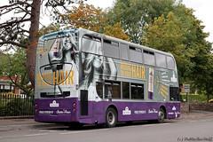 EV61 - Rt1 - ParkAve - 150918(Rear) (dublinbusstuff) Tags: dublin bus dublinbus aussie hair stjohnschurch sandymount santry route1 ringsend enviro400 musictoyourhair