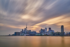 Toronto Skyline (M. Nasr88) Tags: toronto canada northamerica skyline torontoskyline downtown architecture cityscape d750 nikon nikond750 nikondigital longexposure filter nisifilter nisi sunset goldenhour goldenlight beautifullight