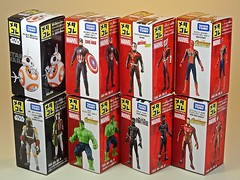 Takara Tomy – Metal Collection (Metacolle) Star Wras and Marvel Diecast Figures Series – Box Art (My Toy Museum) Tags: takara tomy diecast metal collection metacolle star wars marvel universe bb boba fett captain america hulk ant panther iron spider man infinity war figure jedi