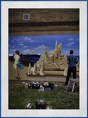 artist at work (Mallybee) Tags: streetphoto mallybee cleethorpes f28 28mm hanimex dcg9 g9 lumix panasonic street art