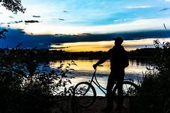 Cycling break in the evening (VisitLakeland) Tags: finland kuopio lakeland summer auringonlasku evening ilta järvi kesä lake luonto maisema nature outdoor scenery silhuet siluetti sunsets water