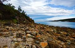 View South (jack eastlake) Tags: shipwrecks orange lichens volcanic geology aragunnu boulders middens wildbeachaus seascape