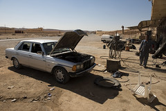 The Damaged car (Hasan Blal) Tags: car syria tadmur palmyra ruins damageed war crisis isis army derzzor marcedes mercedes