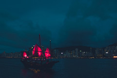 _Q9A2319 (gaujourfrancoise) Tags: china chine hongkong victoriaharbour junks boats bateaux jonques gaujour