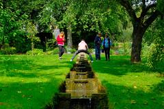 Risky photography (timnutt) Tags: garden xt2 northamptonshire waterfall water people gardens fuji 35f2wr manor midlands 35mm fujifilm cotonmanor
