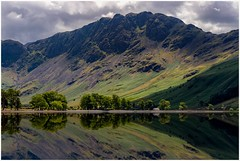 Buttermere and Haystacks (urfnick) Tags: buttermere england unitedkingdom gb nationalpark cumbria canon nature reflections cloudy sky moody hut summer green trees mountain hill summit sundaylights