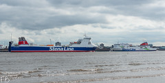 Stena Forerunner (frisiabonn) Tags: vehicle ship water wirral liverpool england uk britain marine vessel river mersey merseyside sea shore waterfront maritime boat outdoor stena line stenaline forerunner roro cargo passenger