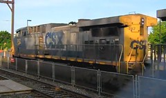 Langhorne Station (beagenm) Tags: csx csxt csxtrentonsubdivision trentonline csx282 ac44cw langhornepa