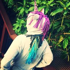 Unicorn Hoodie (kellyhogaboom) Tags: sewing bespoke bespokehogaboom homesewn handsewn vegan vegantailor thevegantailor bamboo bamboofrenchterry unicorn hoodie hooded knitfabrics knit knits