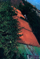 Tennis Court (ge-org) Tags: prague czechrepublic fujisuperia200 minoltax700 tennis filmisnotdead filmisalive analog