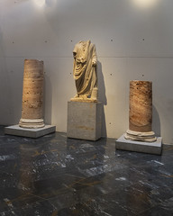 Robed (brentus69) Tags: europe spain cartagena museum theater artifacts romantheatermuseum historic sonya6500 statue columns robed