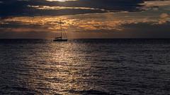 Sailboat (Dedi57) Tags: slovenia sunset sailboat sea izola si