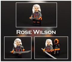 Rose Wilson (-Metarix-) Tags: lego super hero minifig dc comics comic rose wilson slade deathstroke ravager teen titans custom decal villain