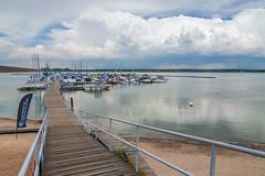 Weather Advisory (Angles & Edges) Tags: lake water reservoir cherrycreekstatepark clouds storm marina boat jetty dock reflection colorado dam martinwitt anglesedges