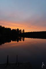 Sunset (jannaheli) Tags: suomi finland karjalohja nikond7200 luonto nature luontovalokuvaus naturephotography cottagelife mökkielämä syksy autumn outdoor sunset auringonlasku redsky