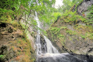Plodda Falls, near Tomich, Highland, Scotland, UK