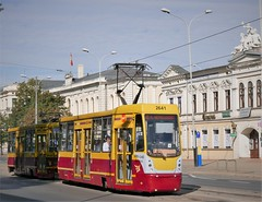 Overland tram from Pabianice to Lodz (roomman) Tags: 2018 lodz poland pabianice industry culture history past story lost place lostplace industrial town city cities towns textile factory transport transportation rail rails railway train trains tram overland
