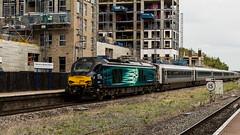 68008 (JOHN BRACE) Tags: 2013 vossloh valencia spain built class 68 diesel electric bo locomotive 68008 named avenger seen wembley stadium station london direct rail services livery drs