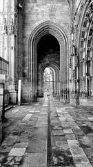 Oviedo Cathedral (Randy Durrum) Tags: ovieto cathedral black white spain asturias arch arches flagstones gate durrum camino primitivo leading lines