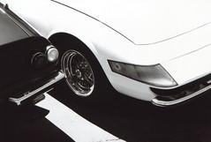 Pentax P30w Ferrari Daytonas 2 (▓▓▒▒░░) Tags: pentax p3 p30 bw black white shadow light high contrast custom paint diy slr ferrari dino 250 daytona swb gtb4 lusso vintage car auto italian la los angeles california west coast socal antique retro classic 35mm film analog camera mechanical design style