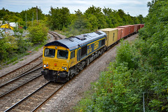 66740 - March - 28/08/18. (TRphotography04) Tags: gb railfreight gbrf 66740 sarah roars past march working 4m29 1029 felixstowe north birch coppice